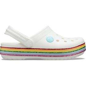 Crocs Crocband Rainbow Glitter Chodaki Dzieci, white